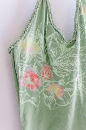 H&M L.O.G.G. Haut à nouer autour du cou vert clair tissu mixte
