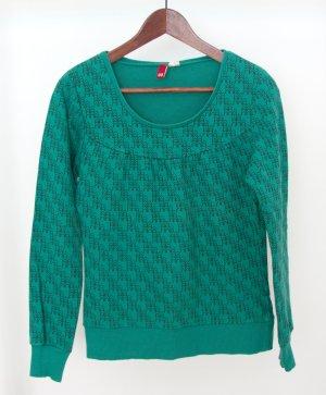 Grünes Sweatshirt mit Druck