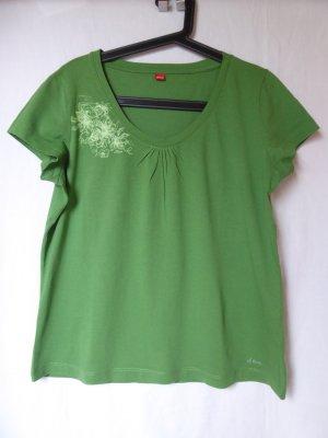 Grünes T-Shirt mit Motiv von S.Oliver
