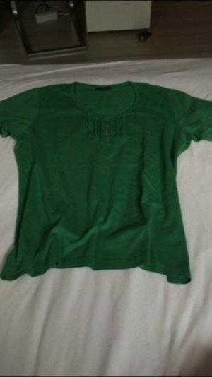 Grünes T-Shirt mit Rüschen