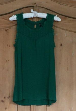 Grünes Top mit Rüschen von Vero Moda