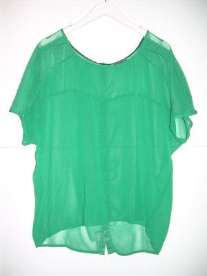grünes transparentes oversize Shirt Gr. M/L von Vero Moda Bluse