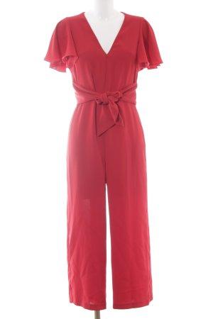 Grupo Inditex Jumpsuit dunkelrot extravaganter Stil