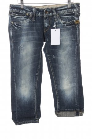 Gstar Jeans 3/4 bleu acier style décontracté