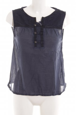Gstar ärmellose Bluse dunkelblau Casual-Look