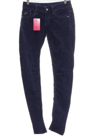 Gstar Corduroy broek donkerblauw casual uitstraling