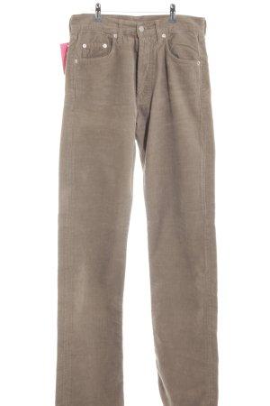 Gstar Pantalone di velluto a coste marrone-grigio stile casual