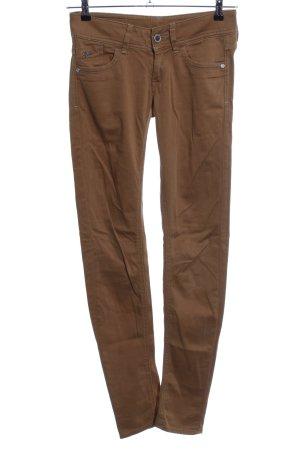 Gstar Pantalon cinq poches brun style décontracté