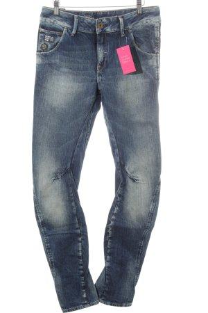 Gstar Jeans taille haute bleu moucheté style décontracté