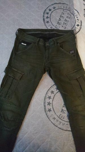 Gstar Hose in grün mit Taschen seitlich