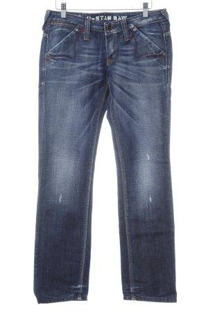 Gstar Hüfthose dunkelblau Jeans-Optik