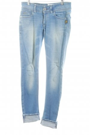 Gstar Hüfthose himmelblau Jeans-Optik