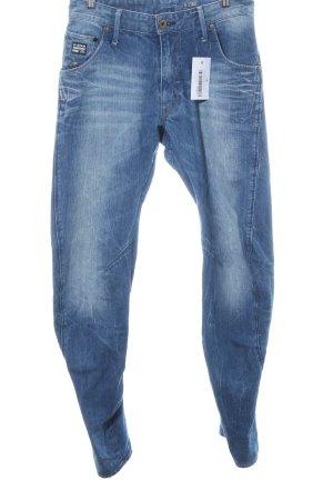 Gstar Hüftjeans stahlblau Jeans-Optik