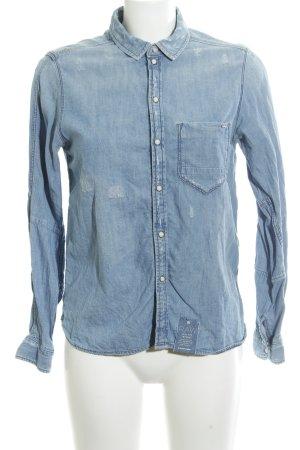 Gstar Camicia denim blu neon stile jeans