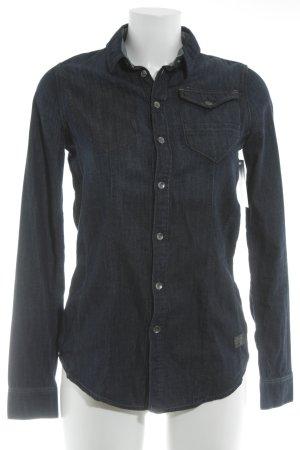 Gstar Jeanshemd dunkelblau Jeans-Optik