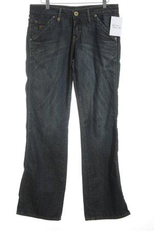 Gstar Jeansschlaghose dunkelblau Jeans-Optik
