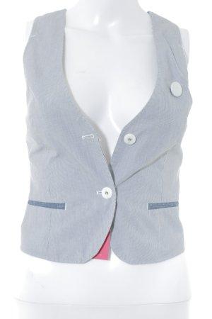 Gstar Jeansweste weiß-dunkelblau Nadelstreifen Business-Look