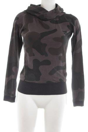 Gstar Kapuzenpullover braun-schwarz Camouflagemuster Casual-Look