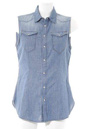 Gstar Shirt met korte mouwen blauw casual uitstraling
