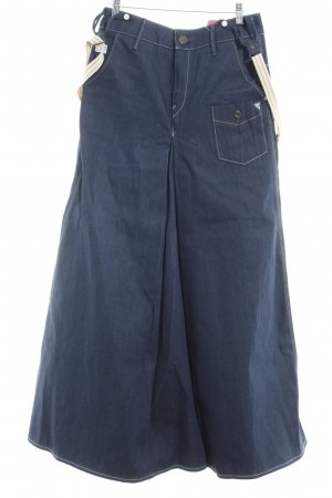 Gstar Pinafore Overall Skirt dark blue jeans look