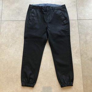 Gstar Pantalón de cuero negro