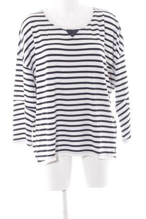 Gstar Gestreept shirt wit-zwart gestreept patroon marine uitstraling