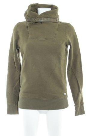 Gstar Turtleneck Sweater khaki casual look