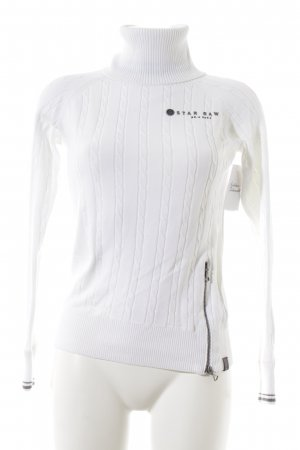 Gstar Turtleneck Sweater white casual look