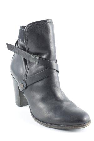 Gstar Schlüpf-Stiefeletten schwarz Casual-Look