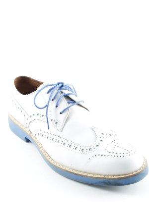 Gstar Schnürschuhe weiß-kornblumenblau Vintage-Look