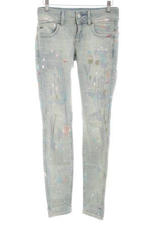 Gstar Skinny Jeans abstraktes Muster Casual-Look