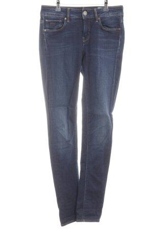 Gstar Slim Jeans dunkelblau-kornblumenblau meliert schlichter Stil