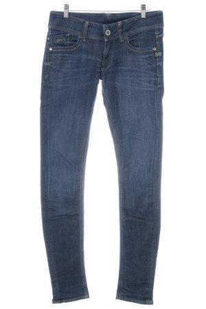 Gstar Slim Jeans dunkelblau Washed-Optik