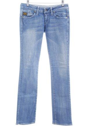 Gstar Slim Jeans stahlblau-kornblumenblau Jeans-Optik