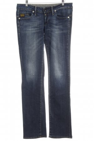 Gstar Straight-Leg Jeans blau Washed-Optik