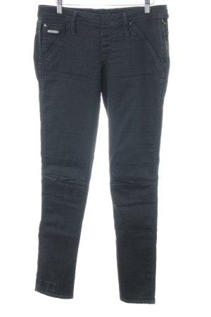Gstar Stretch jeans zwart Biker-look
