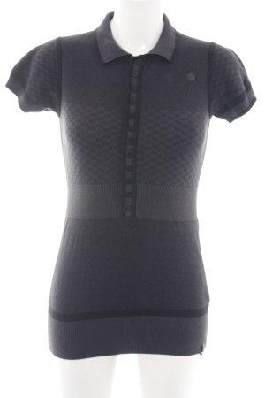 Gstar Camicia maglia nero-grigio chiaro stile casual