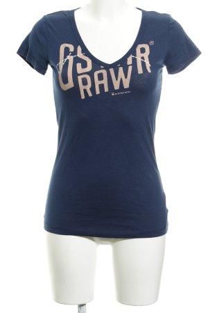 Gstar T-Shirt dunkelblau Casual-Look