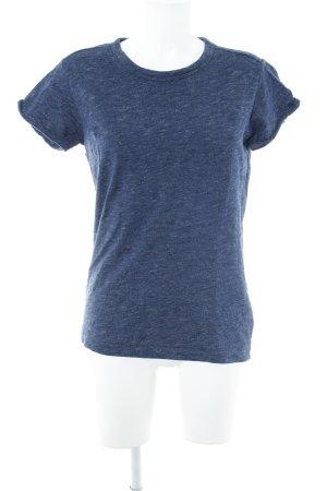 Gstar T-Shirt dunkelblau meliert Casual-Look