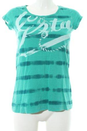 Gstar T-Shirt grün-dunkelgrün Streifenmuster Casual-Look