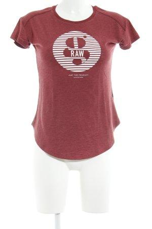 Gstar T-Shirt karminrot Casual-Look
