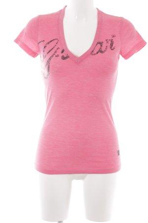 Gstar T-Shirt pink Casual-Look