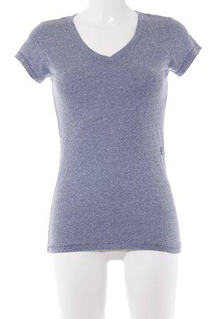 Gstar T-Shirt stahlblau meliert Boyfriend-Look