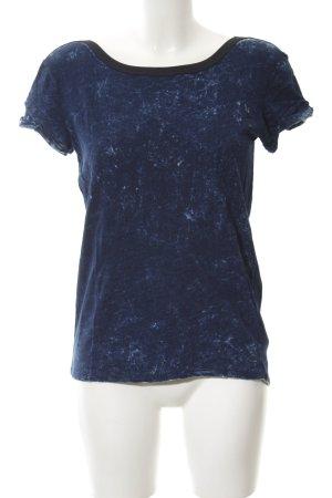 Gstar T-shirt col en V bleu moucheté style Boho