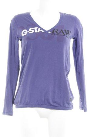 Gstar V-Ausschnitt-Shirt platzierter Druck Casual-Look