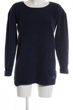 Gstar Cable Sweater black-blue casual look