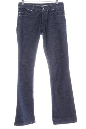 Gsus Boot Cut Jeans dunkelblau Casual-Look