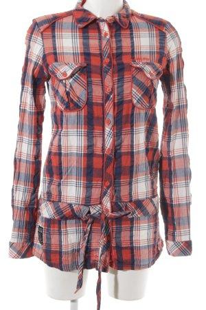 Gsus Abito blusa camicia motivo a quadri stile boyfriend
