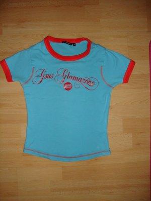 Gsus Industries / Only / H&M / Basic / New Yorker T-Shirt blau Größe: S