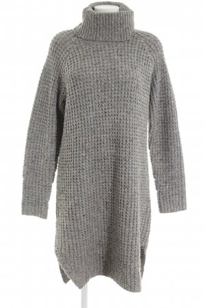 Gsus Sweater Dress light grey flecked casual look